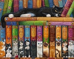 BOOKS OF CATS Painting With Diamonds Kit