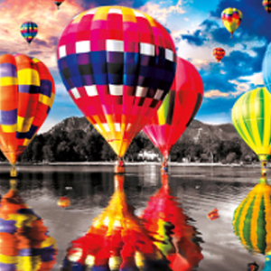 HOT AIR BALLOON REFLECTIONS Diamond Painting Kit Paint with Diamonds Kit