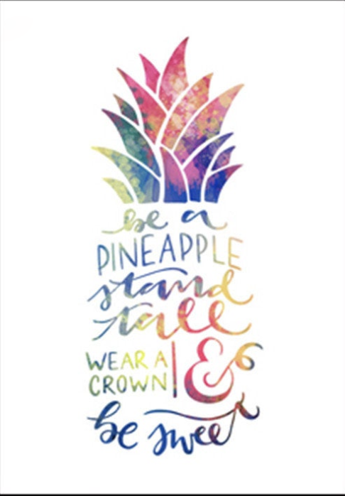 Be A Pineapple Quote Diamond Painting Kit Paint With Diamonds Kit