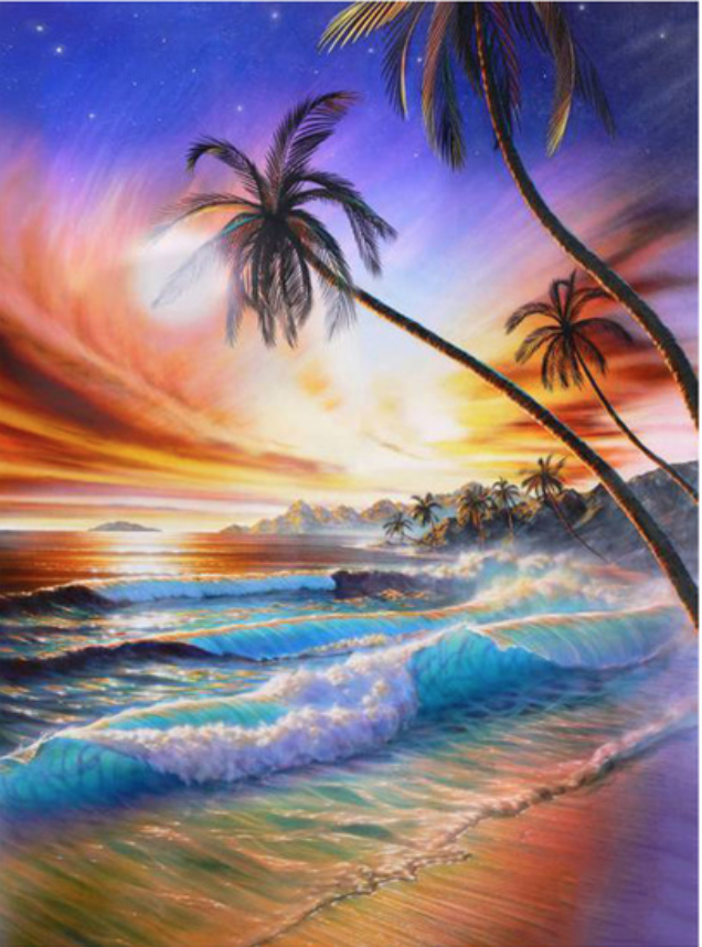 Beach Waves Diamond Painting Kit Paint With Diamonds