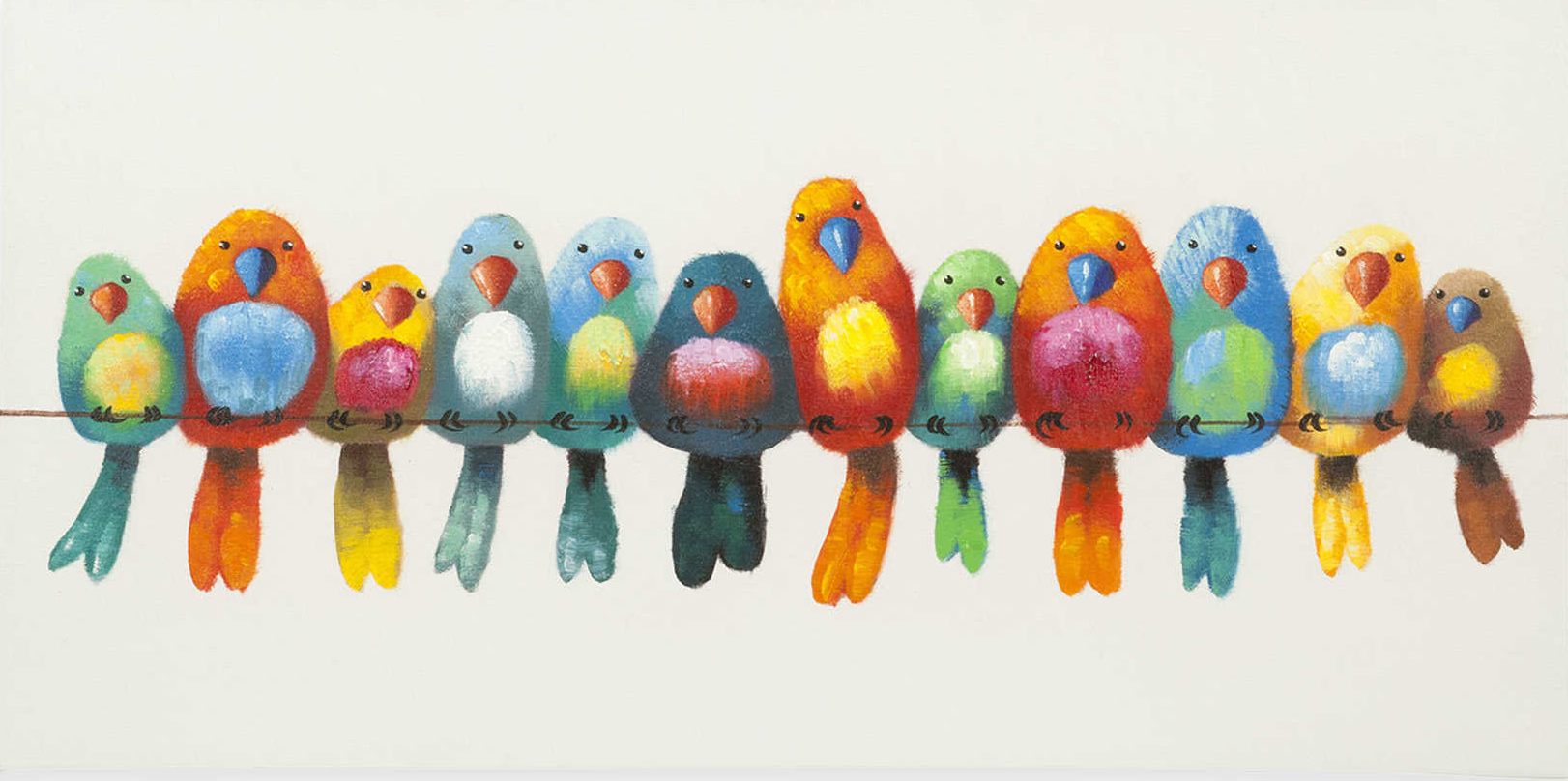 Birds On A Wire Diamond Painting Embroidery Kit Diamond Embroidery