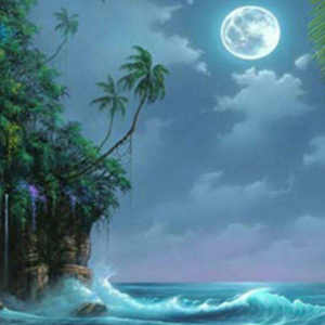 BLUE MOON LAGOON Diamond Painting Kit Paint with Diamonds Kit