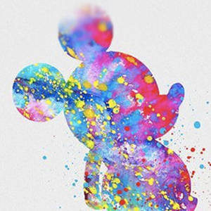 COLORFUL MICKEY DISNEY INK BLOTS Diamond Painting Kit Paint with Diamonds Kit