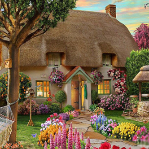 GARDEN COTTAGE Diamond Painting Kit Paint with Diamonds Kit