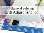 DRILL ADJUSTMENT TOOL Diamond Painting Drill Straightener Tool Align Drills On Canvas Plastic Blade Tool for Diamond Painting Kits