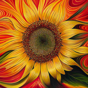 FIREY SUNFLOWER Diamond Painting Kit Paint With Diamonds Kit