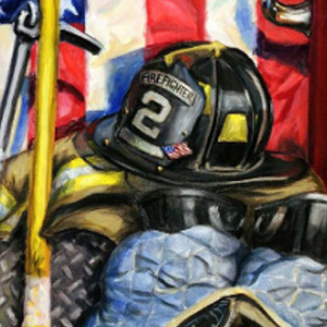 FIREFIGHTER HERO Diamond Painting Kit Paint with Diamonds Kit