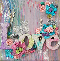 FLORAL LOVE LETTERS Diamond Painting Kit Paint with Diamonds Kit