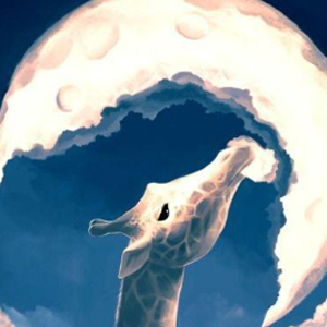 GIRAFFE MOON REACH Diamond Painting Kit Paint with Diamonds Kit