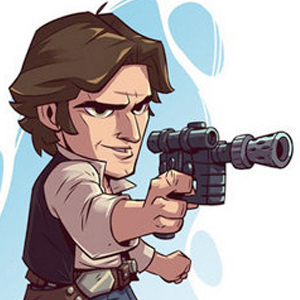 HAN SOLO STAR WARS CARTOON Diamond Painting Kit Paint with Diamonds Kit