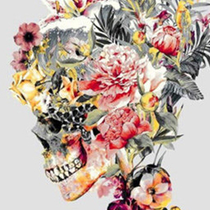 LILY FLORAL SKULL Diamond Painting Kit Paint with Diamonds Kit