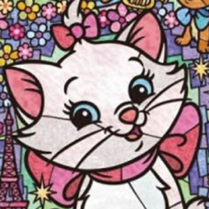 MARIE CAT STAINED GLASS Diamond Painting Kit Paint with Diamonds Kit