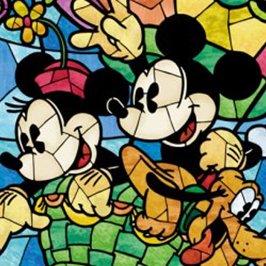 MICKEY & MINNIE BALLOON STAINED GLASS Diamond Painting Kit Paint with Diamonds Kit