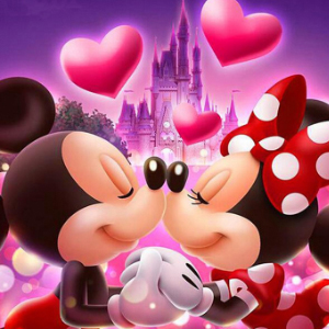 MICKEY & MINNIE KISS Diamond Painting Kit Paint with Diamonds Kit