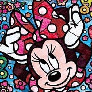 MINNIE MOUSE STAINED GLASS Diamond Painting Kit Paint with Diamonds Kit