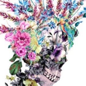 FLORAL MOHAWK SKULL Diamond Painting Kit Paint with Diamonds Kit