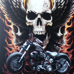 MOTORCYCLE SKULL Diamond Painting Kit Paint with Diamonds Kit