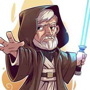 OBI-WAN KENOBI STAR WARS CARTOON Diamond Painting Kit Paint with Diamonds Kit