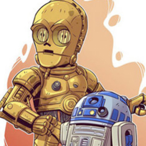 C3PO & R2D2 STAR WARS CARTOON Diamond Painting Kit Paint with Diamonds Kit