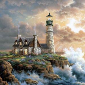 SEASIDE COTTAGE Diamond Painting Kit Paint with Diamonds Kit