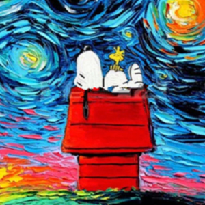 SNOOPY STARRY NIGHT Diamond Painting Kit Paint with Diamonds Kit