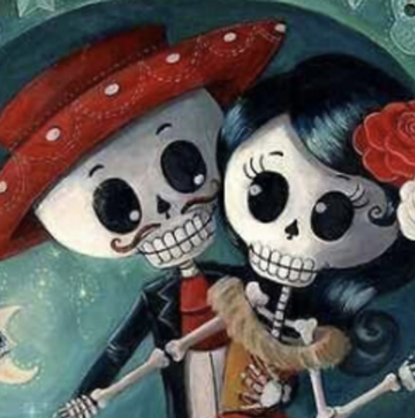 SKELETON COUPLE Diamond Painting Kit Paint with Diamonds Kit