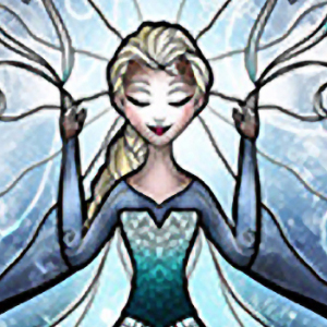TALL ELSA STAINED GLASS Diamond Painting Kit Paint with Diamonds Kit