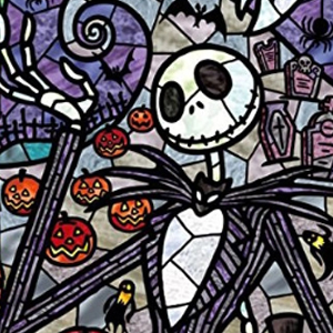TALL NIGHTMARE BEFORE CHRISTMAS STAINED GLASS Diamond Painting Kit Paint with Diamonds Kit
