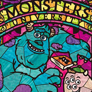 TALL MONSTERS UNIVERSITY STAINED GLASS Diamond Painting Kit Paint with Diamonds Kit