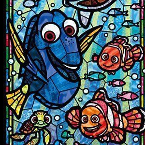 TALL FINDING NEMO STAINED GLASS Diamond Painting Kit Paint with Diamonds Kit