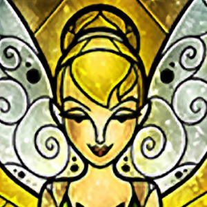 TALL TINKER BELL STAINED GLASS Diamond Painting Kit Paint with Diamonds Kit