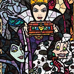 TALL DISNEY VILLAINS STAINED GLASS Diamond Painting Kit Paint with Diamonds Kit