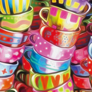 COLORFUL TEACUPS Diamond Painting Kit Paint with Diamonds Kit