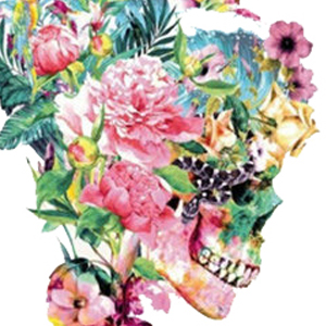 TROPICAL FLORAL SKULL Diamond Painting Kit Paint with Diamonds Kit