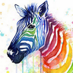 PAINTED ZEBRA Diamond Painting Kit Paint With Diamonds Kit