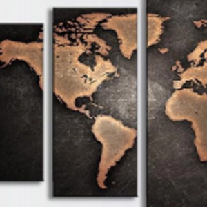 WORLD MAP 5 Panel Multi-Panel Diamond Painting Kit Paint with Diamonds Kit