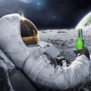 CHILLING ON THE MOON Diamond Painting Kit Paint with Diamonds Kit