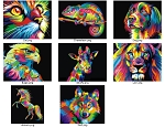 BEGINNER COLORFUL ANIMALS PAINTING KIT Try Diamond Painting Kit Paint with Diamonds Kit