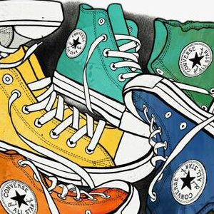 CONVERSE ALL STAR SHOES Diamond Painting Kit Paint with Diamonds Kit