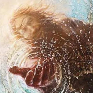 HAND OF GOD Jesus Reaching Into Water Diamond Painting Kit Paint with Diamonds Kit
