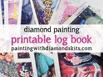 PRINTABLE Diamond Painting LOG BOOK Page – Track Diamond Painting Projects Printable Project Organizer Editable Pdf Diamond Painting Kits