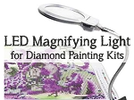 LED Clip On Magnifying Glass for Diamond Painting Kit Paint with Diamonds Kit