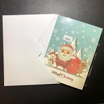 SANTA & FRIENDS Diamond Painting Card Kit Paint with Diamonds Christmas Card Kit
