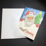 SANTA & CHRISTMAS TREE Diamond Painting Card Kit Paint with Diamonds Christmas Card Kit