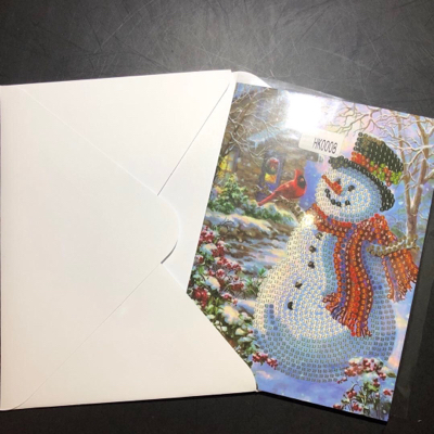 Snowman 5 x 7 diamond painting card kit paint with diamonds home diamond painting kits snowman painting with diamonds christmas card kit m4hsunfo
