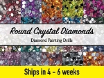 2000 CRYSTAL DIAMOND DRILLS DMC Replacement Diamond Drills for Diamond Painting Kits Round Drill