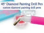 45° DRILL PEN 45 Degree Angled Diamond Painting Pen for Painting With Diamonds Kits