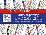 PRINT YOURSELF DMC COLOR CHART Sorted By Color Number & Name Diamond Painting Drill Color Charts Dmc Color Card