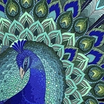 ABSTRACT PEACOCK Diamond Painting Kit Paint with Diamonds Kit