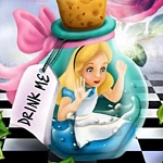 ALICE DRINK ME Diamond Painting Kit Paint with Diamonds Kit